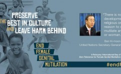 "On the International Day of Zero Tolerance for FGM, UN Secretary-General says operationalizing resolution declaring this day ""can have profound effect"""